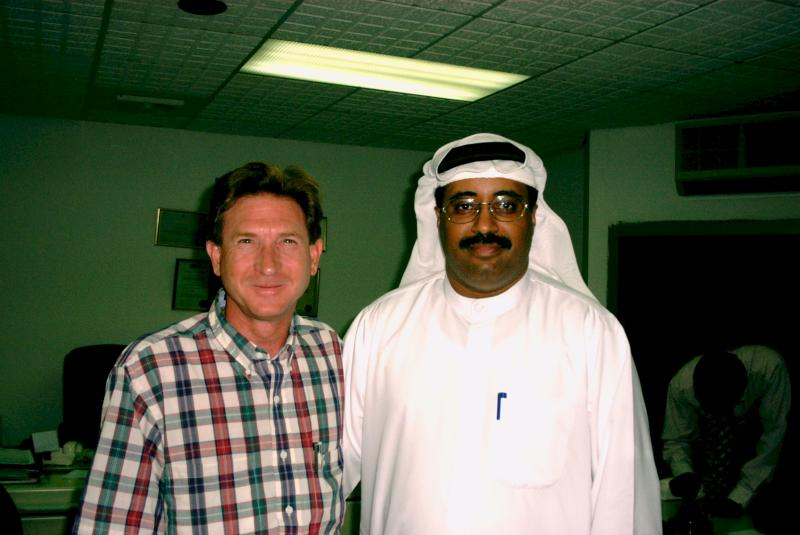 Jim working in the UAE with CleanCo.